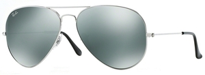 Ray Ban RB3025 Aviator Large Metal Silver w/ Crystal Grey Mirror Lenses 003/40