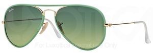 Ray Ban RB3025JM Arista Gold/Green with Green Gradient Lenses