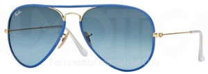 Ray Ban RB3025JM Arista Gold/Matte Blue with Blue Gradient Lenses