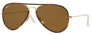 Ray Ban RB3025JM Arista Gold with Crystal Polarized Brown Lenses