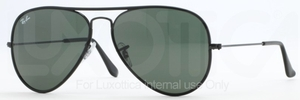 Ray Ban RB3025JM Black/Black with Crystal Green Lenses