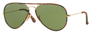 Ray Ban RB3025JM Gold with Crystal Green Lenses