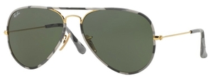 Ray Ban RB3025JM Gold with Green Lenses