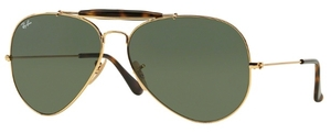 Ray Ban RB3029 Gold with Dark Green Lenses