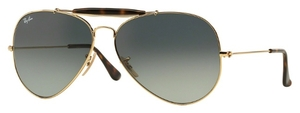 Ray Ban RB3029 Gold with Light Grey Gradient Dark Grey Lenses