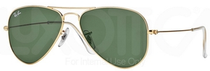 Ray Ban RB3044 (Small Metal) Arista w/ Crystal Green Lenses