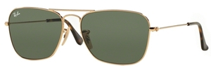 Ray Ban RB3136 (Caravan) Gold w/ Dark Green Lenses