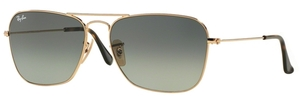 Ray Ban RB3136 (Caravan) Gold w/ Light Grey Gradient Dark Grey Lenses