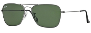 Ray Ban RB3136 (Caravan) Gunmetal with Crystal Green Lenses