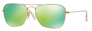 Ray Ban RB3136 (Caravan) Matte Gold with Grey Mirror Green Lenses