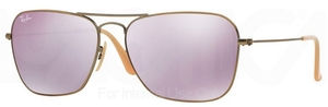 Ray Ban RB3136 (Caravan) Demiglos Brushed Bronze w/ Lillac Mirror Lenses  167/4K