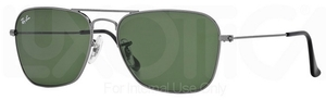 Ray Ban RB3136 (Caravan) Gunmetal w/ Crystal Green Lenses 004
