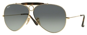 Ray Ban RB3138 Gold with Light Grey Gradient Dark Grey Lenses