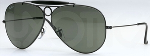Ray Ban RB3138 (Shooter) Black with Crystal Green Lenses