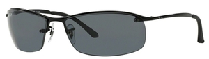 Ray Ban RB3183 (Top Bar) Black with Polarized Grey Lenses