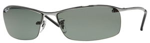 Ray Ban RB3183 (Top Bar) Gunmetal with Polarized Green Lenses