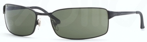 Ray Ban RB3269 Matte Black with Crystal Green Lenses