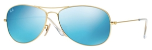 Ray Ban RB3362 Cockpit Matte Gold w/ Grey Mirror Blue Lenses
