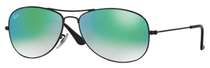 Ray Ban RB3362 Cockpit Shiny Black with Crystal Gradient Mirror Lenses
