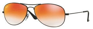Ray Ban RB3362 Cockpit Shiny Black with Crystal Red Gradient Lenses