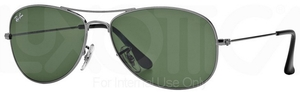 Ray Ban RB3362 Cockpit Gunmetal w/ Crystal Green Lenses 004