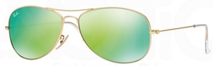 Ray Ban RB3362 Cockpit Matte Gold w/ Grey Mirror Green Lenses  112/19