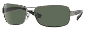 Ray Ban RB3379 Gunmetal with Crystal Green Polarized Lenses