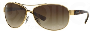 Ray Ban RB3386 Arista with Brown Gradient Lenses
