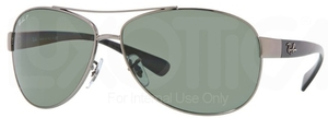 Ray Ban RB3386 Gunmetal w/ Polar Green Lenses