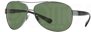 Ray Ban RB3386 Gunmetal with Green Lenses