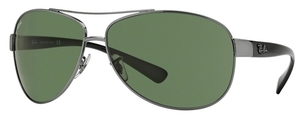 Ray Ban RB3386 Gunmetal with Polarized Green Lenses