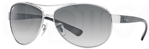 Ray Ban RB3386 Silver with Grey Gradient Lenses