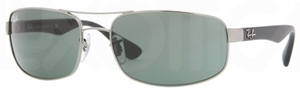 Ray Ban RB3445 Gunmetal w/ Crystal Green Lenses 004