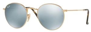 Ray Ban RB3447N Shiny Gold with Crystal Grey Flash Lenses