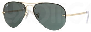Ray Ban RB3449 Arista Gold with Green Lenses