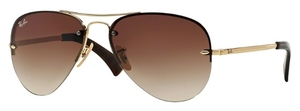 Ray Ban RB3449 Arista Gold with Brown Gradient Lenses