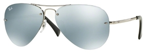 Ray Ban RB3449 Silver with Green Mirror Silver Lenses