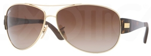 Ray Ban RB3467 Arista Gold with Brown Gradient Lenses