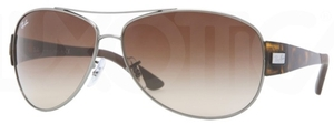 Ray Ban RB3467 Gunmetal with Brown Gradient Lenses