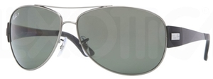 Ray Ban RB3467 Gunmetal with Polarized Green Lenses