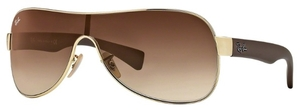 Ray Ban RB3471 Arista Gold with Gradient Brown Lenses