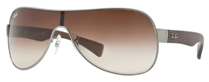 Ray Ban RB3471 Matte Gunmetal with Brown Gradient Lenses