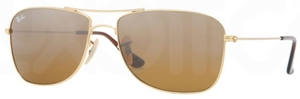 Ray Ban RB3477 Arista Gold with Brown Silver Mirror Gradient Lenses