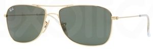 Ray Ban RB3477 Arista Gold with Crystal Green Lenses