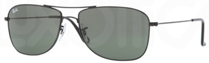 Ray Ban RB3477 Black with Crystal Green Lenses