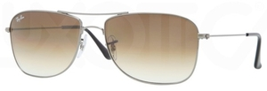 Ray Ban RB3477 Gunmetal with Crystal Brown Gradient Lenses