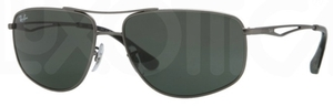 Ray Ban RB3490 Matte Gunmetal with Green Lenses