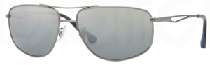 Ray Ban RB3490 Matte Gunmetal with Polarized Grey/Silver Mirror Lenses
