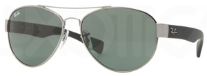 Ray Ban RB3491 Gunmetal with Green Lenses