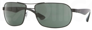 Ray Ban RB3492 Black with Crystal Green Lenses